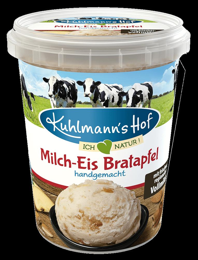 Milch-Eis Bratapfel