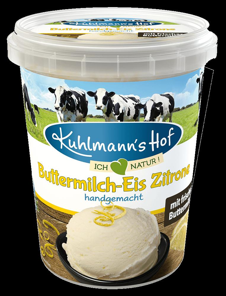 Eis Buttermilch-Zitrone