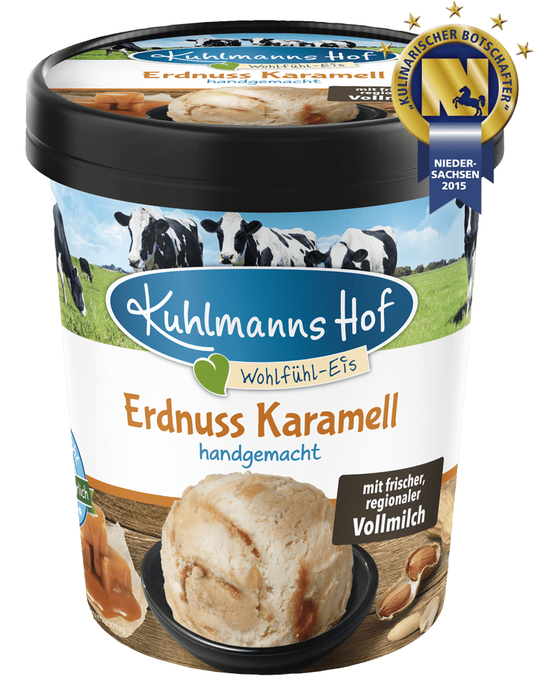 Milch-Eis Erdnuss-Karamell