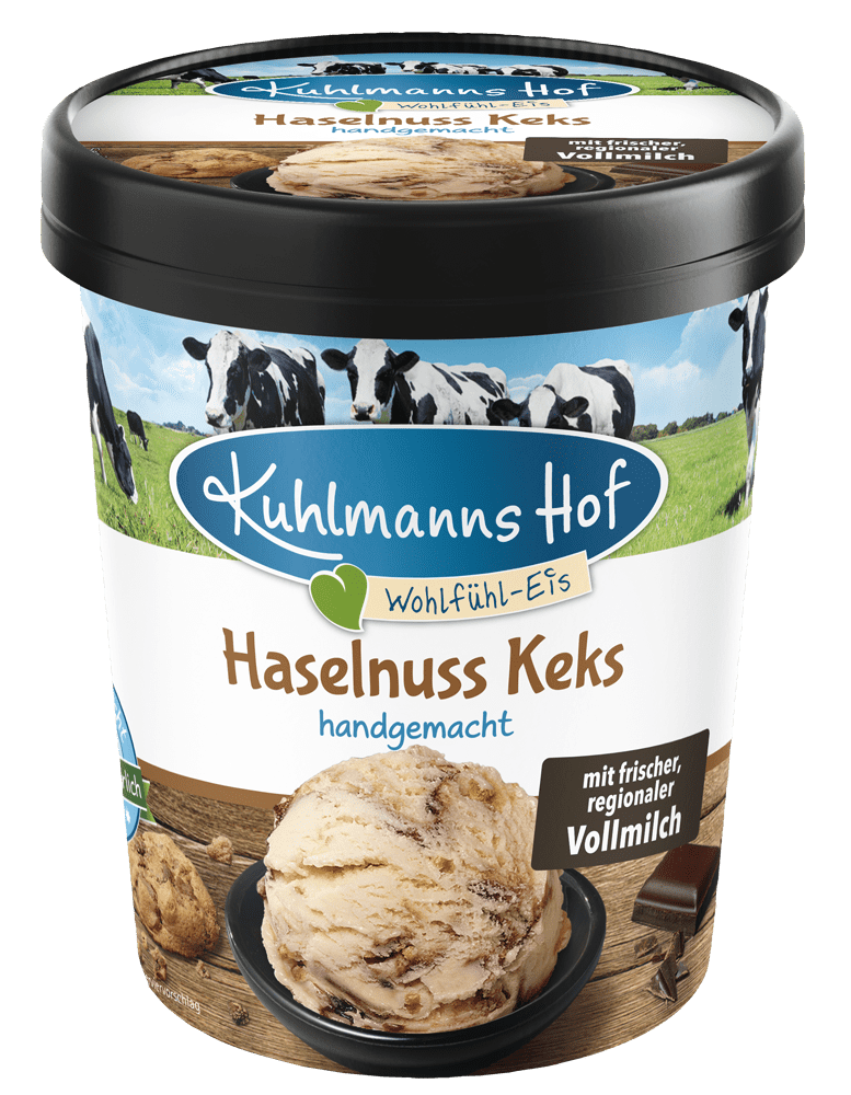 Milch-Eis Haselnuss-Keks