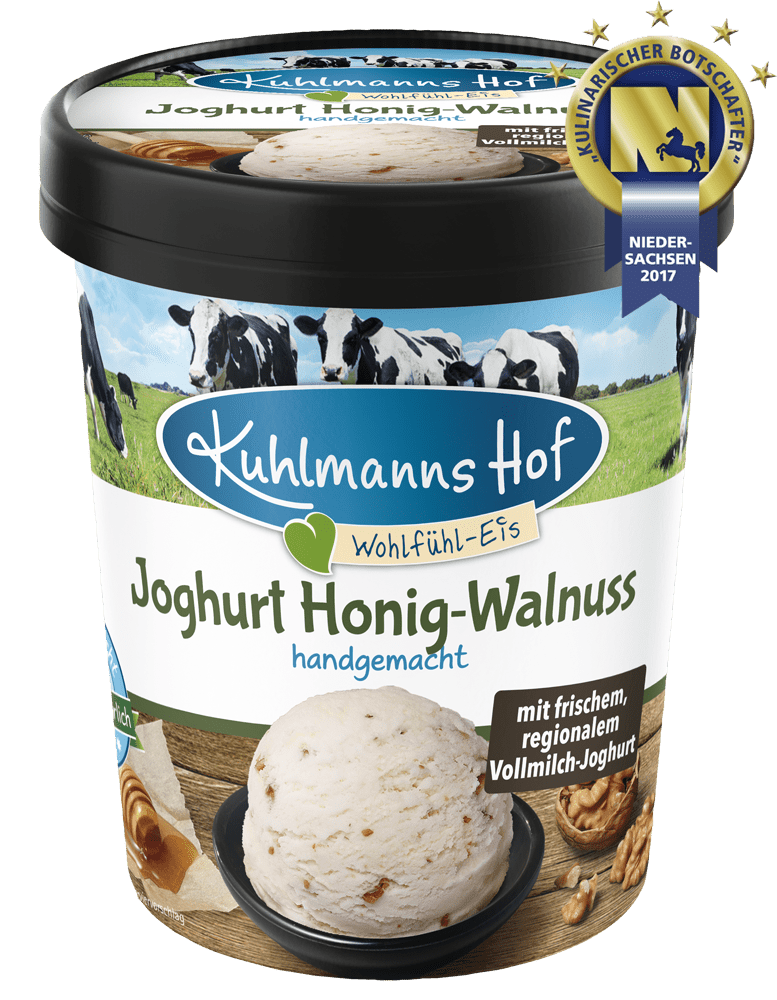Joghurt-Eis Honig-Walnuss