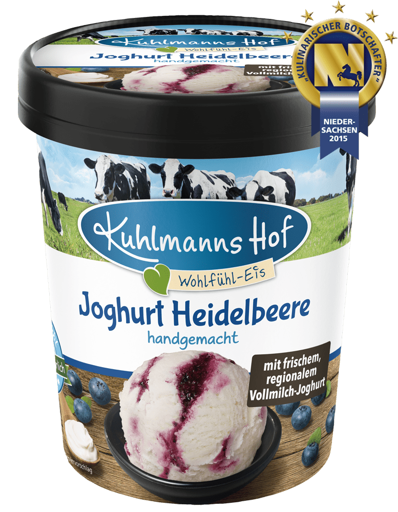Joghurt-Eis Heidelbeere