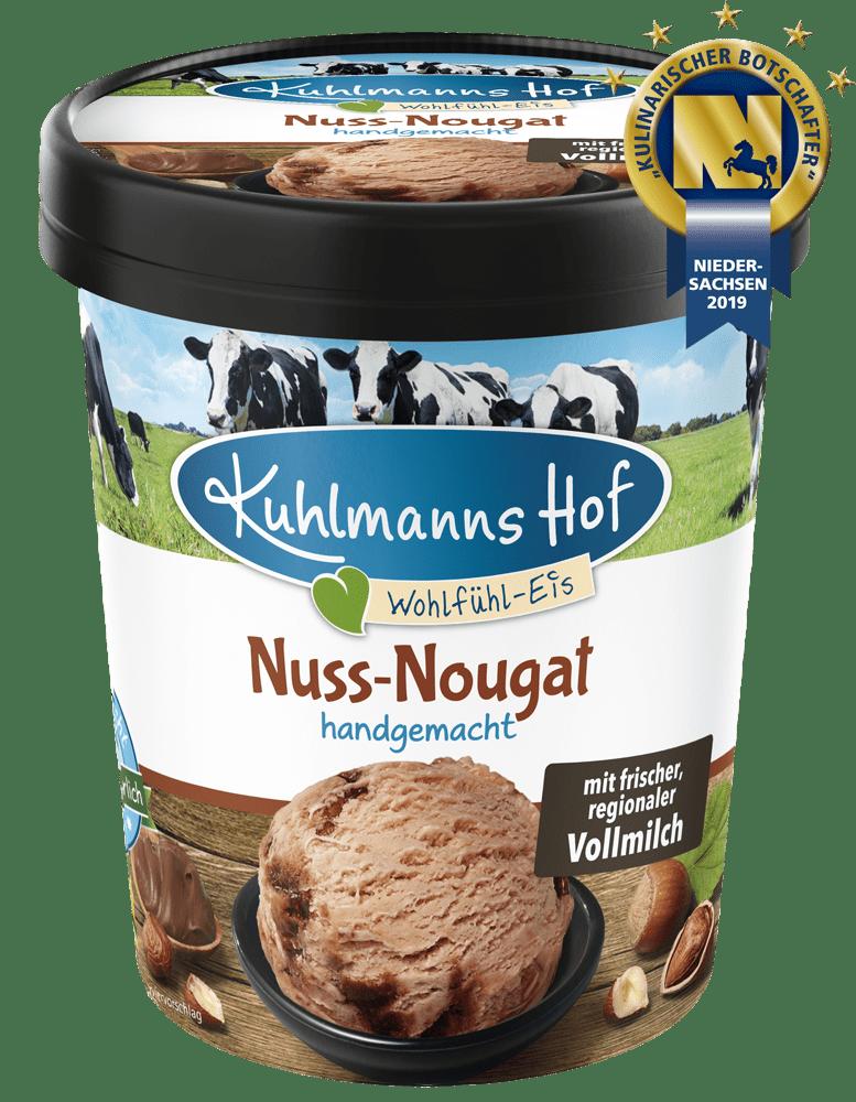 Milch-Eis Nuss-Nougat