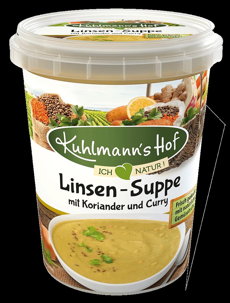 Linsen-Suppe mit Koriander und Curry