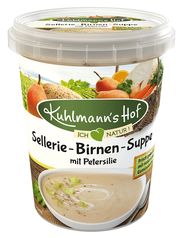 Sellerie-Birnen-Suppe mit Petersilie