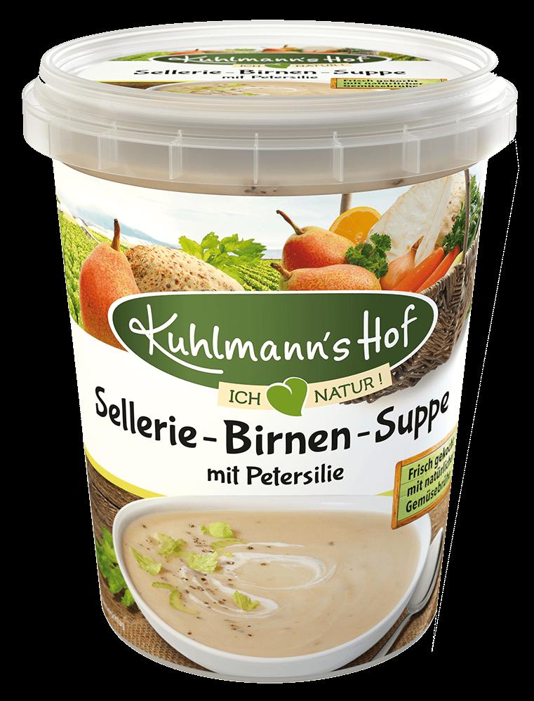 Sellerie-Birnen-Suppe mit Petersilie