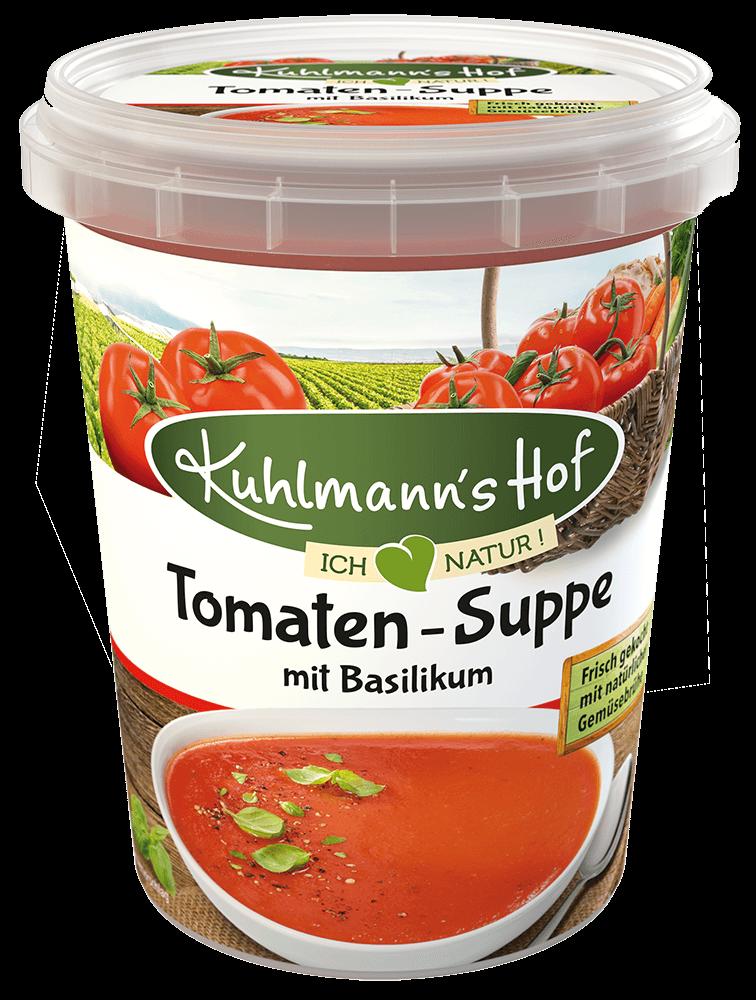 Tomaten-Suppe mit Basilikum