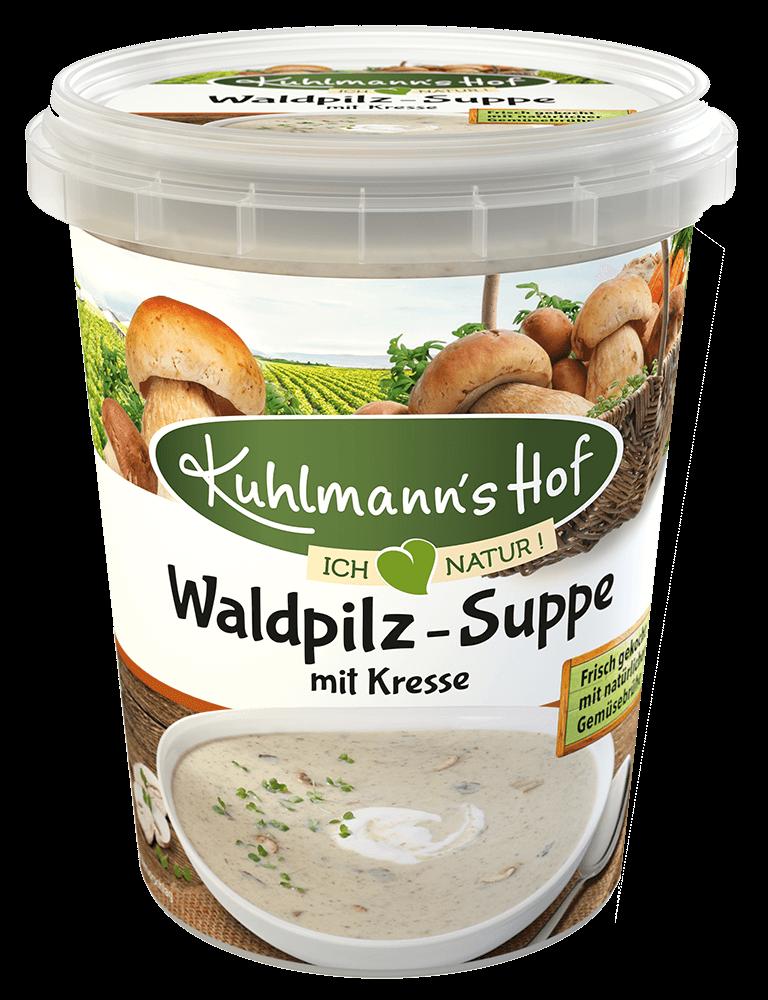 Waldpilz-Suppe mit Kresse